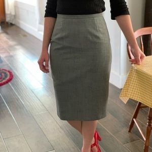 Ann Taylor Grey High Waist Pencil Skirt, Size 4